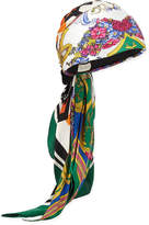 Gucci GG Belts & Spring Bouquet Printed Silk Twill Headband