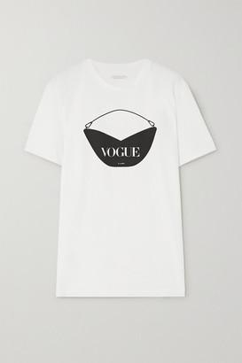 S.JOON + Vogue Printed Organic Cotton-jersey T-shirt - White