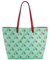 Bueno Women's Canvas Poodle Print Tote Handbag - Mint Green