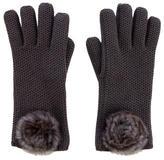 Loro Piana Chinchilla-Trim Gloves w/ Tags