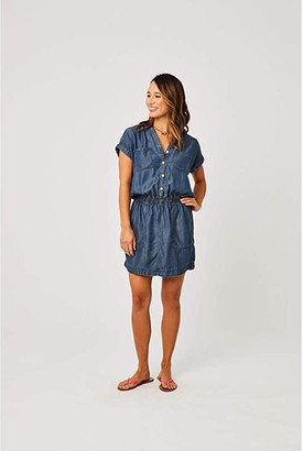 Carve Designs Hadley Dress (Dark Chambray) Women's Dress