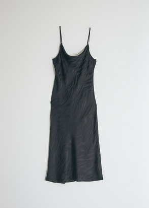 Stelen Women's Heidi Cowl Neck Dress in Black/Zebra, Size Extra Small | Silk