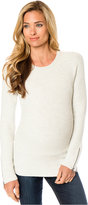 A Pea in the Pod Maternity Zip-Cuff Sweater