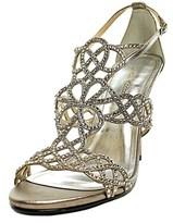 Caparros Armani Women Open-toe Canvas Silver Heels.