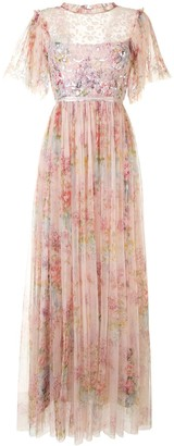 Needle & Thread Floral Diamond Bodice Maxi Dress