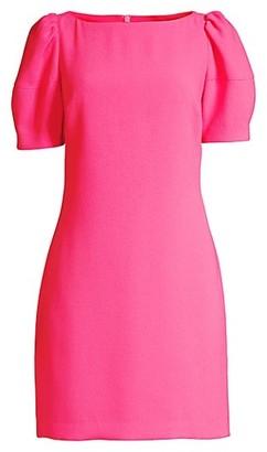Trina Turk Bloom Puff-Sleeve Dress