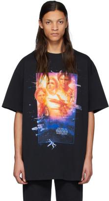 Vetements Black STAR WARS Edition Movie Poster T-Shirt