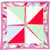 Emilio Pucci Printed Sheer Pocket Square