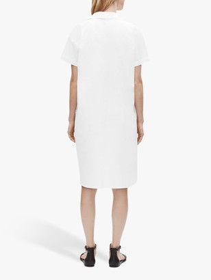 Eileen Fisher Organic Cotton Poplin Shirt Dress, White