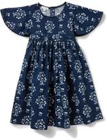 David Jones Flutter Sleeve Dress (3-7 Years)