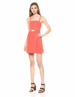 BCBGeneration Women's Sleeveless Cutout Flutter Dress