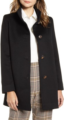 Fleurette Cashmere Stand Collar Car Coat