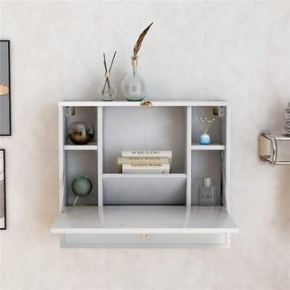 Latitude Run Durkje Floating Desk Color: White
