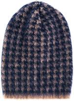 Lardini printed knit beanie