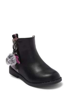 Juicy Couture Lil Napa Faux Fur Pompom Bootie (Toddler)