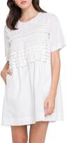 Thumbnail for your product : ENGLISH FACTORY Ruffle Mini T-Shirt Dress