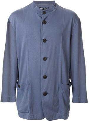 Issey Miyake Pre Owned Mandarin Collar Relaxed Jacket