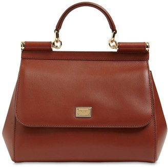 Dolce & Gabbana Md Sicily Leather Bag