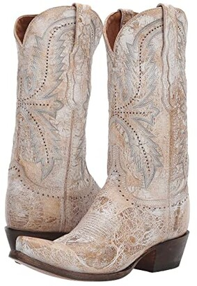 Lucchese Marcella (Cream) Women's Shoes