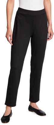 Eileen Fisher Plus Size Melange Ponte Slim Ankle Pants