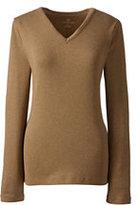 Classic Women's Tall Shaped Cotton V-neck T-shirt-Vicuna Heather