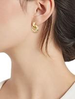 Saks Fifth Avenue Made In Italy 14K Gold Black Spinel & Multi-Color Topaz J-Hoop Dangle Earrings