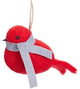 Christmas Street Modern Cabin Felted Bird Ornament