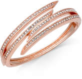 Charter Club Rose Gold-Tone Pave Bypass Bangle Bracelet, Created for Macy's