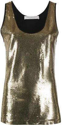 Philosophy di Lorenzo Serafini sequin embellished top