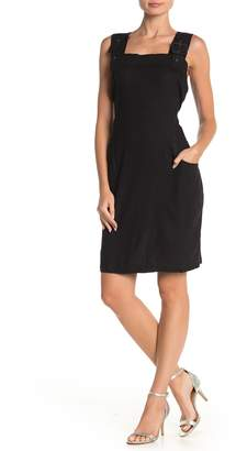 Papillon Buckle Strap Overall Dress