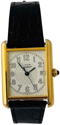 Cartier Tank Must White Silver Gilt Watches
