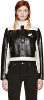 Courreges Black Short Logo Jacket
