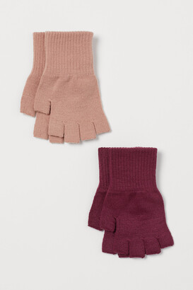 H&M 2-pack Fingerless Gloves