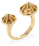 Rebecca Minkoff Glass Crystal Pyramid Open Ring