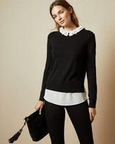 Ted Baker NANSEA Floral collar mockable sweater
