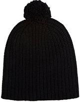 Alex Mill Men's Pom-Pom-Embellished Cashmere Beanie-BLACK