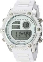 Sean John Men's 10026892 Personal & Up Close Digital Display Japanese Quartz White Watch