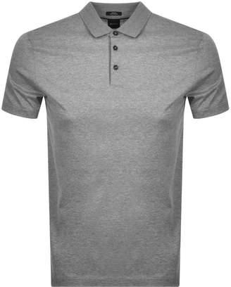 HUGO BOSS Boss Business Pitton Polo T Shirt Grey