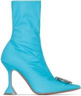 Amina Muaddi Begum 95mm embellished detail boots