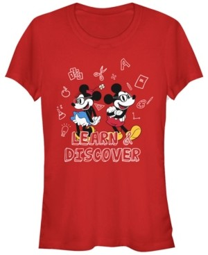Fifth Sun Women's Disney Mickey Classic Discover Short Sleeve T-shirt