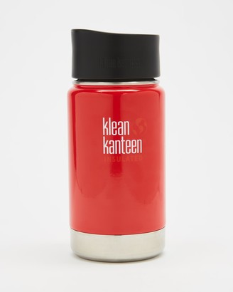 Klean Kanteen Red Water bottles - 12oz Wide Insulated Cafe Cap - Size One Size at The Iconic