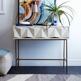 west elm Sculpted Geo Console - Parchment
