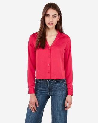 Express Satin Pajama Collar Shirt