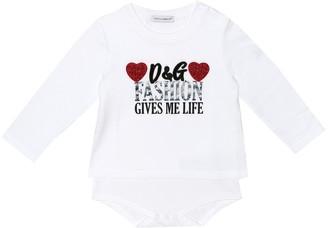 Dolce & Gabbana Kids Baby printed cotton onesie