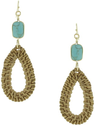 Olivia Welles Sandra Straw Drop Earrings
