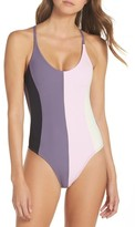 Pilyq Women's Farrah Colorblock One-Piece Swimsuit