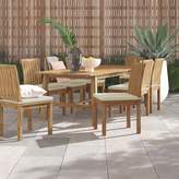 """Anthony Logistics For Men Foundstone Outdoor Patio 7 Piece Teak Dining Set with Cushion Foundstone Table Size: 30"""" H x 72"""" L x 40"""" W"""