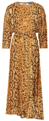 Preen by Thornton Bregazzi Claudia snake-print midi dress