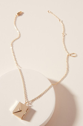 Anthropologie Charlie Envelope Locket Necklace By in Gold
