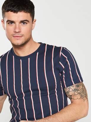 Very Vertical Stripe T-Shirt - Navy